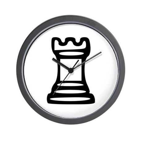 Chess - Castle Wall Clock