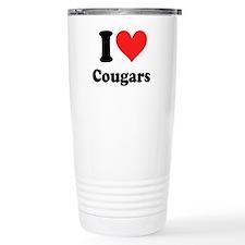 I Heart Cougars: Thermos Mug