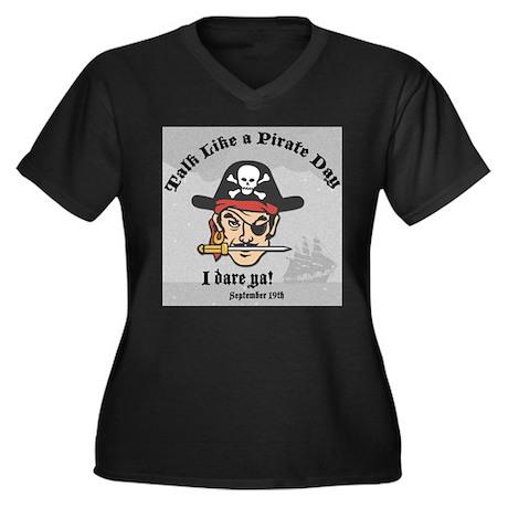 Talk like a Pirate Day Women's Plus Size V-Neck Da