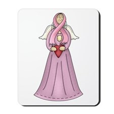 Breast Cancer Awareness Angel Mousepad