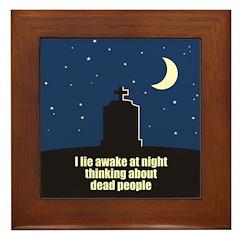 Lie Awake At Night Framed Tile