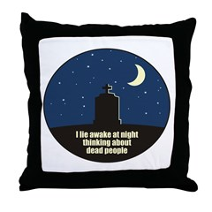 Lie Awake At Night Throw Pillow