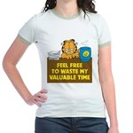 Waste My Time Jr. Ringer T-Shirt