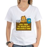Waste My Time Women's V-Neck T-Shirt