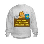 Waste My Time Kids Sweatshirt
