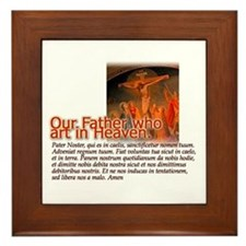 """Pater Noster (""""Our Father"""") Framed Tile"""