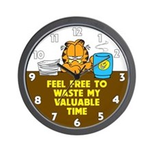 Waste My Time Wall Clock