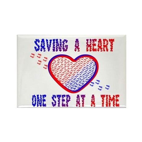 Walk to save a heart 1 Rectangle Magnet (10 pack)