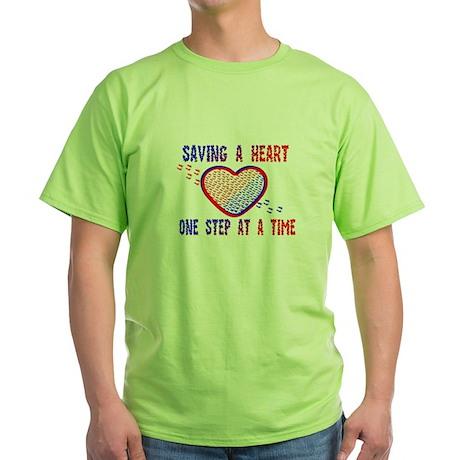 Walk to save a heart 1 Green T-Shirt