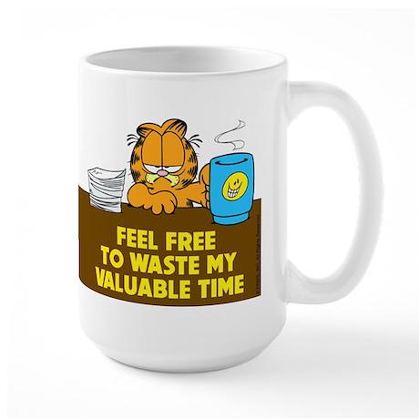 Waste My Time Large Mug