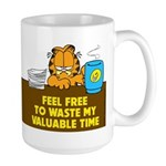 Waste My Time Large Mug