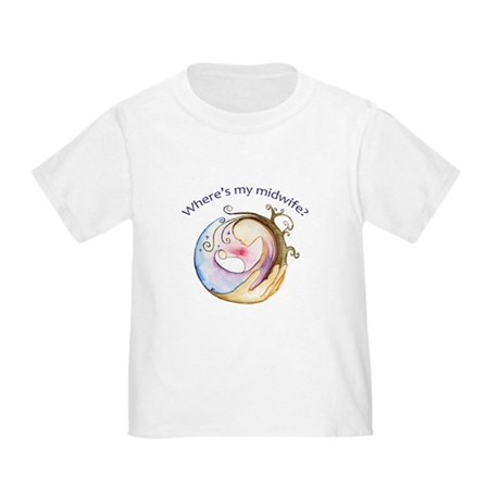 Where's My Midwife Toddler T-Shirt
