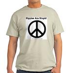 Hippies Are Stupid Ash Grey T-Shirt
