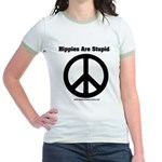 Hippies Are Stupid Jr. Ringer T-Shirt
