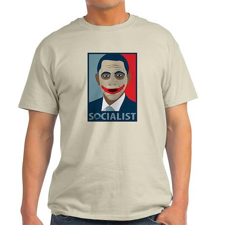 Anti-Obama Joker Socialist Light T-Shirt