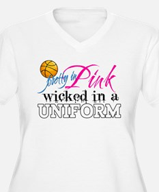 Pretty In Pink Basketball T-Shirt