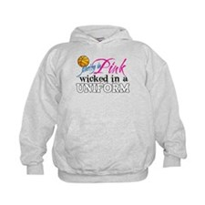 Pretty In Pink Basketball Hoodie