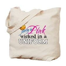 Pretty In Pink Basketball Tote Bag