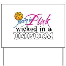 Pretty In Pink Basketball Yard Sign