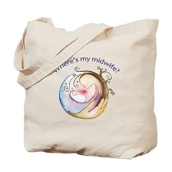 Where's My Midwife Tote Bag