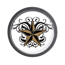 Rustic Star Wall Clock