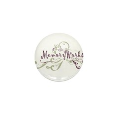 MemoryWorks Flourish Mini Button (100 pack)
