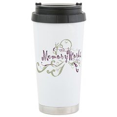 MemoryWorks Flourish Stainless Steel Travel Mug