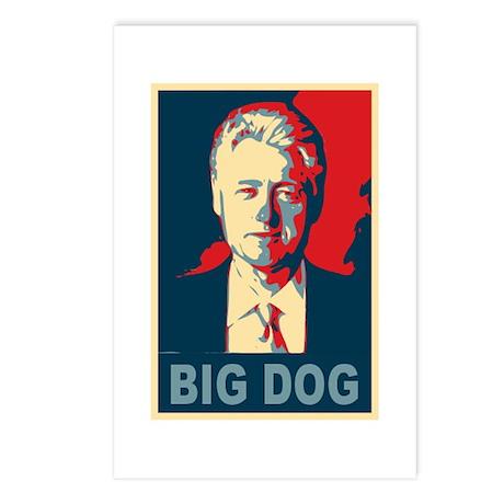 Bill Clinton Big Dog Pop Art Postcards (Package of