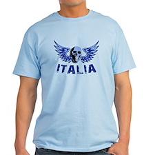 Italy Blue Skull T-Shirt