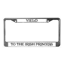 Yield to the Irish Princess License Plate Frame