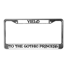 Yield to the Gothic Princess License Plate Frame