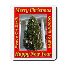 Alabama State Christmas Tree Mousepad