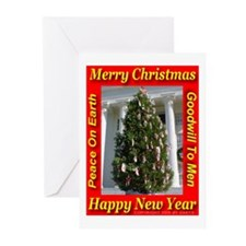 Alabama State Christmas Tree Greeting Cards (Packa
