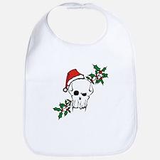 Santa Skull Bib