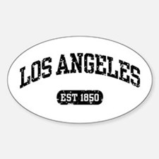 Los Angeles Est 1850 Oval Decal