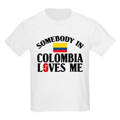 Somebody In Colombia Kids T-Shirt