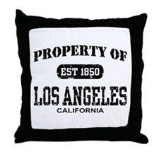 Property of Los Angeles Throw Pillow