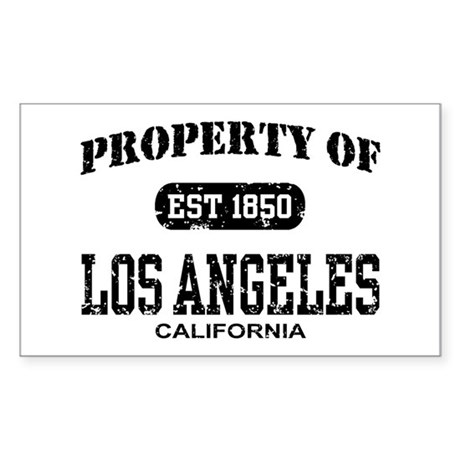 Property of Los Angeles Rectangle Sticker