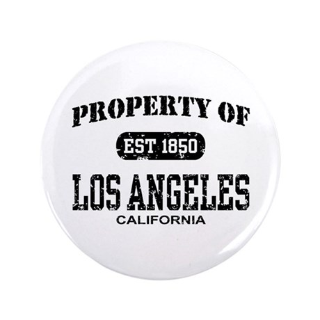 """Property of Los Angeles 3.5"""" Button"""