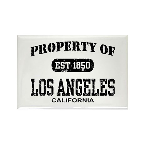 Property of Los Angeles Rectangle Magnet