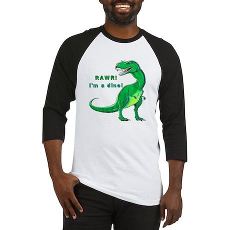 Rawr! I'm a Dino! T-Rex Baseball Jersey