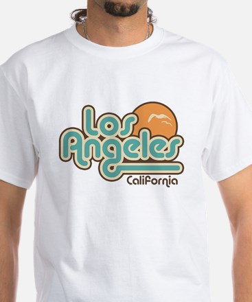 Los Angeles California White T-Shirt