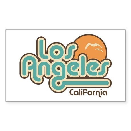 Los Angeles California Rectangle Sticker