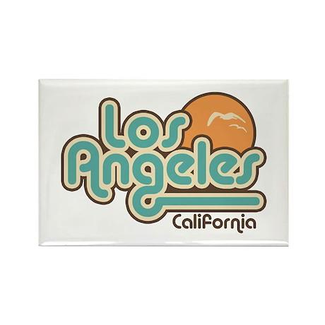 Los Angeles California Rectangle Magnet