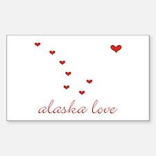 Alaska Love Rectangle Decal