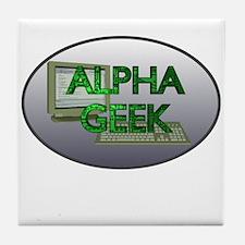 Alpha Geek Tile Coaster
