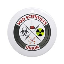 Mad Scientist Union Ornament (Round)
