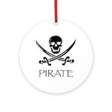 Cute Pirate design Ornament (Round)