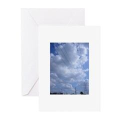 electric sky Greeting Cards (Pk of 10)