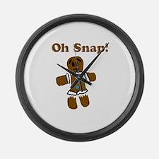 Oh Snap! Gingerbread Man Large Wall Clock